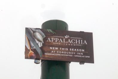 Corduroy Inn & Appalachia Kitchen Signage