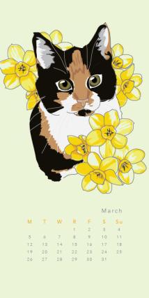 Purr & Fleur Calendar - May Panel