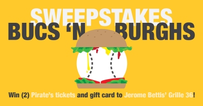 ALCO Parking Bucs n' Burghs Sweepstakes Facebook Ad